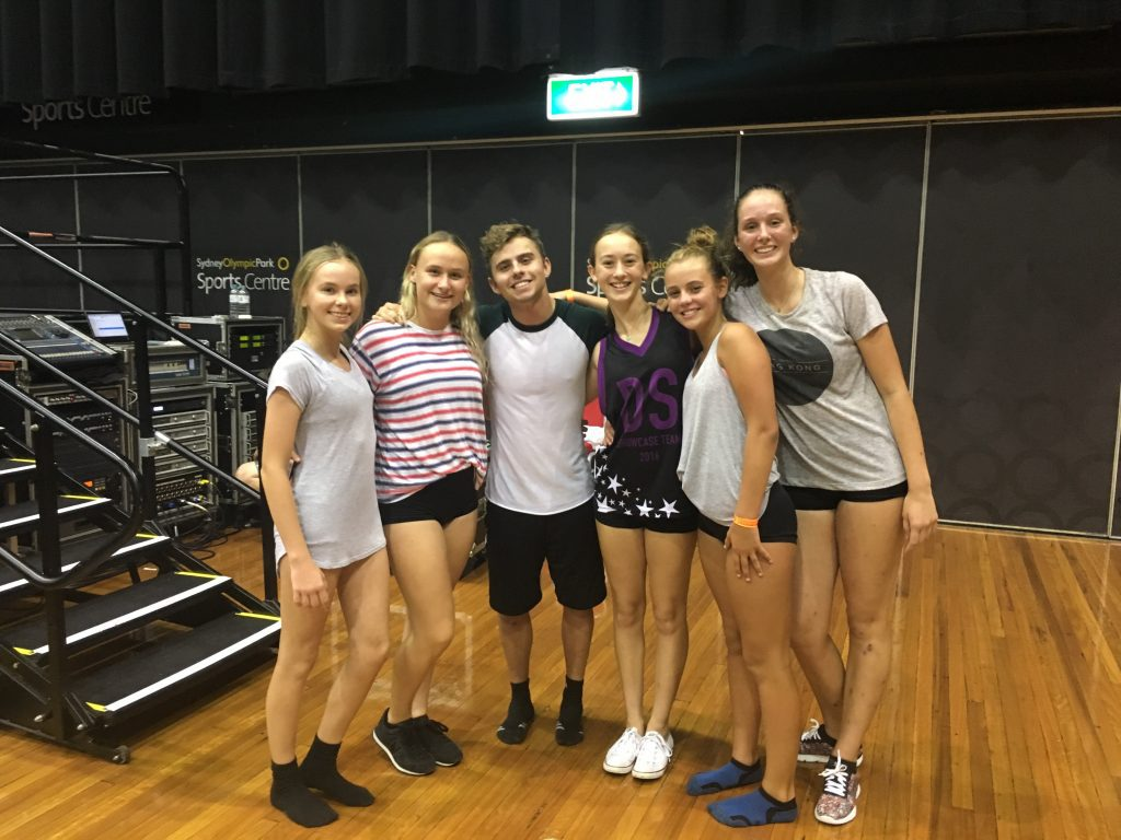 Some of our Dance Sensations students with Michael Dimevski at a workshop