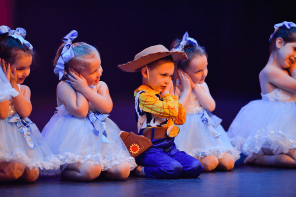 Our pre school ballet classes are always so cute up on stage!
