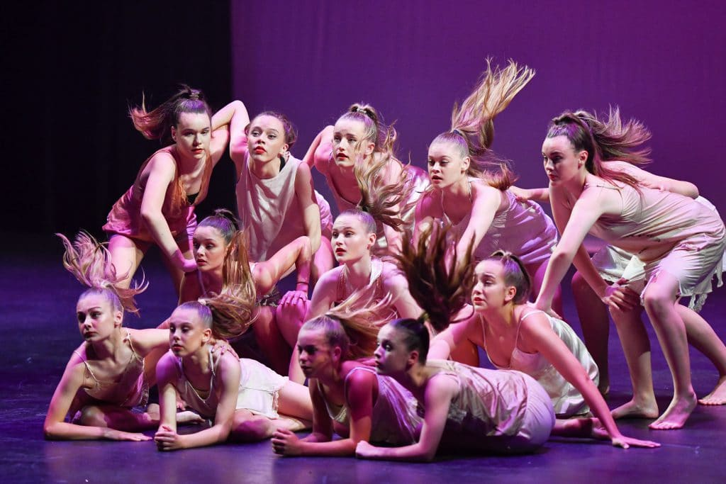 This photo is one of our competition classes performing their contemporary dance