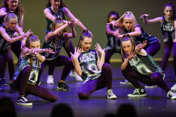 Hip Hop Classes at dance sensations , students on stage