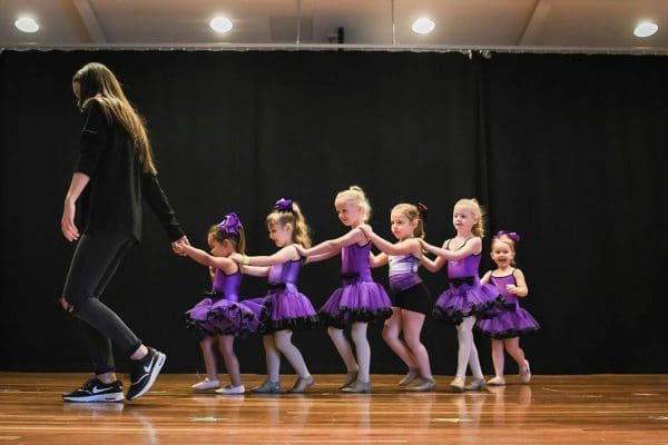 Mini dancers on stage at Dance Sensations concert